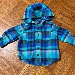 OshKosh B'gosh Shirts & Tops - Oshkosh button up hoodie